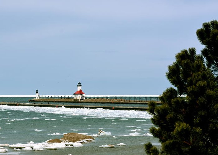 Pier Greeting Card featuring the photograph St. Joseph Pier by Lauren Medina