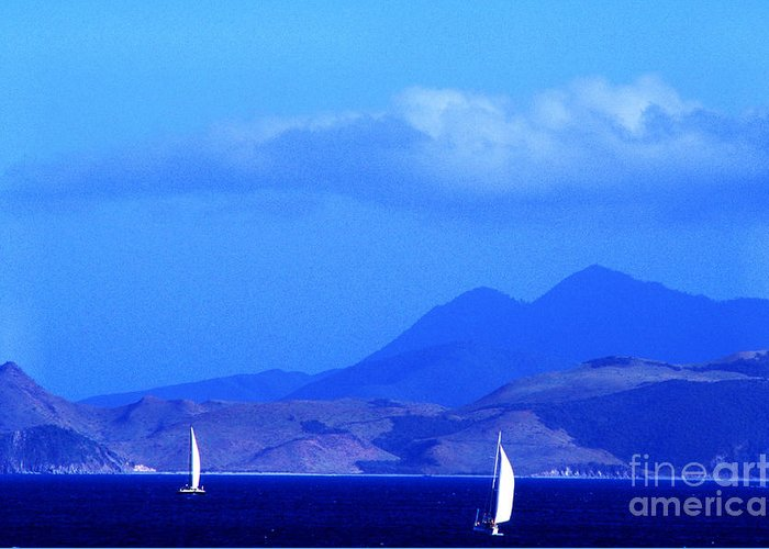 West Indies Greeting Card featuring the photograph St Kitts Sailboats by Thomas R Fletcher