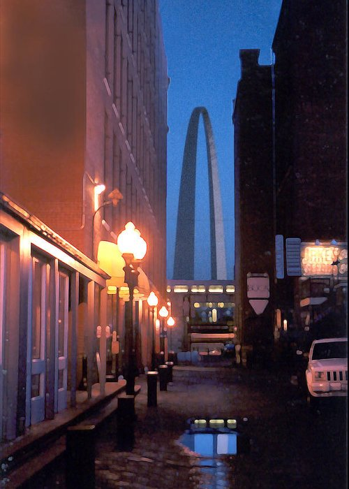 St. Louis Greeting Card featuring the photograph St. Louis Arch by Steve Karol