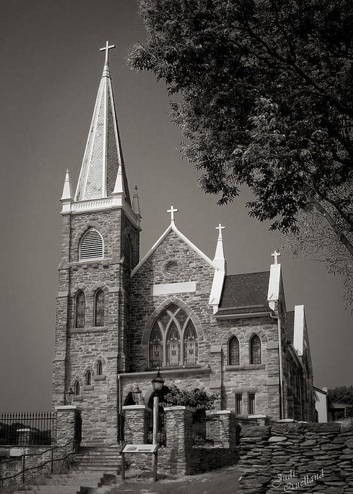 Church Greeting Card featuring the photograph St. Peter's Catholic Chuch by Judi Quelland