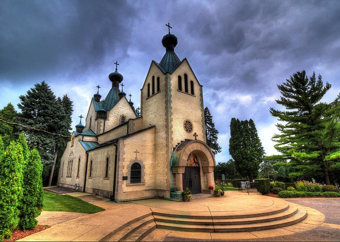 Church Greeting Card featuring the photograph St. Sava by Robert Storost