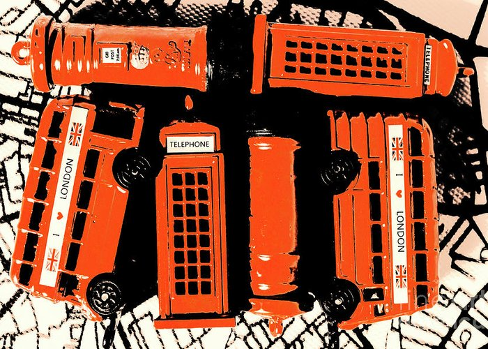 Retro Greeting Card featuring the photograph Stacking The Double Deckers by Jorgo Photography - Wall Art Gallery