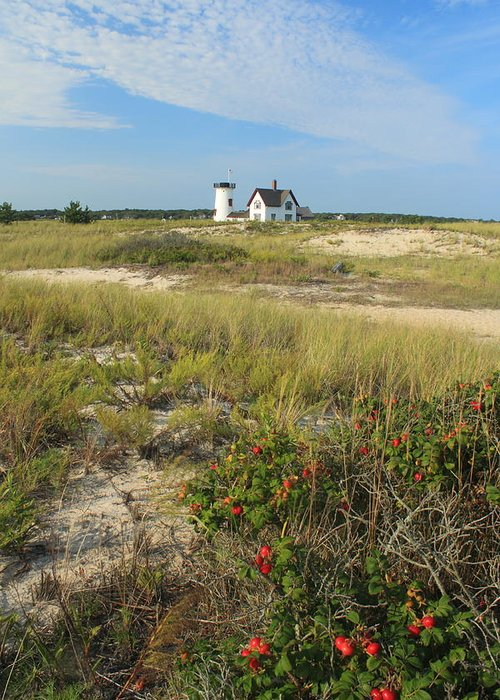 Chatham Greeting Card featuring the photograph Stage Harbor Lighthouse Cape Cod by John Burk