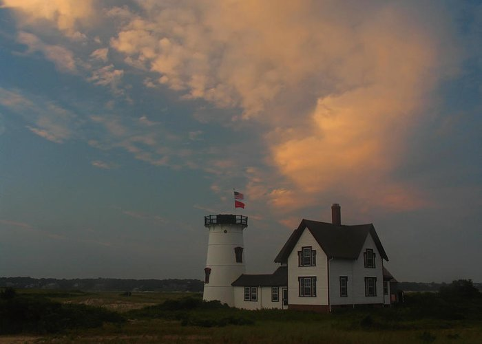 Lighthouse Greeting Card featuring the photograph Stage Harbor Lighthouse by Juergen Roth