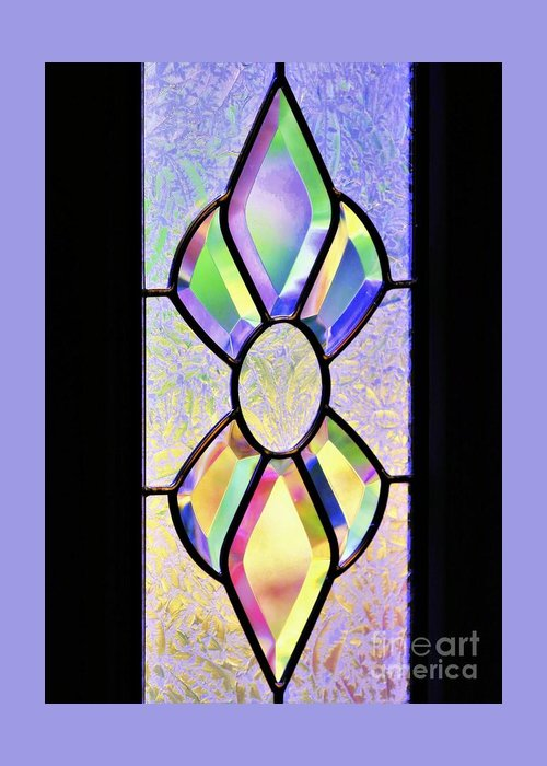 Still Life Greeting Card featuring the photograph Stained Glass Watercolor by Diann Fisher