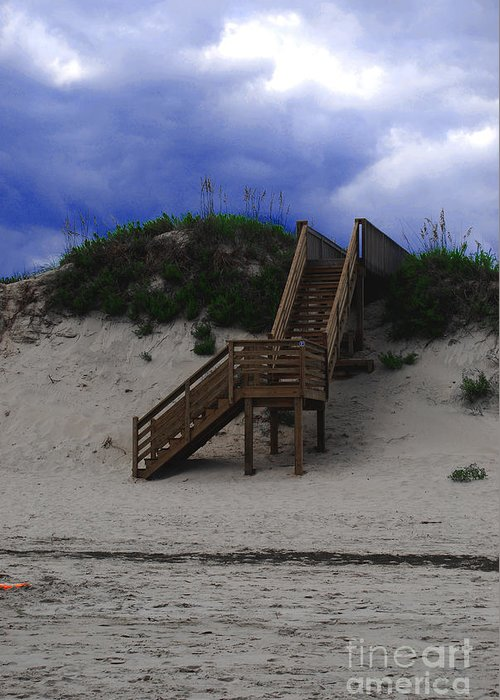 Dunes Greeting Card featuring the photograph Stairway To Reality by Linda Mesibov