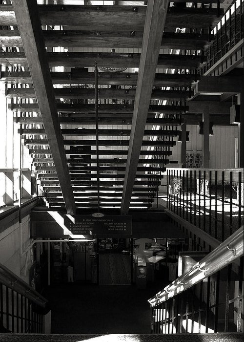 Bw Greeting Card featuring the photograph Stairways by Joanne Coyle