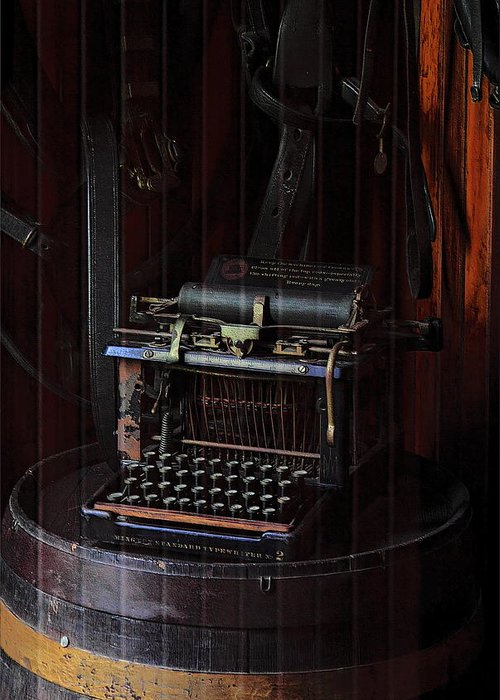 Remington Greeting Card featuring the photograph Standard Typewriter by Viktor Savchenko