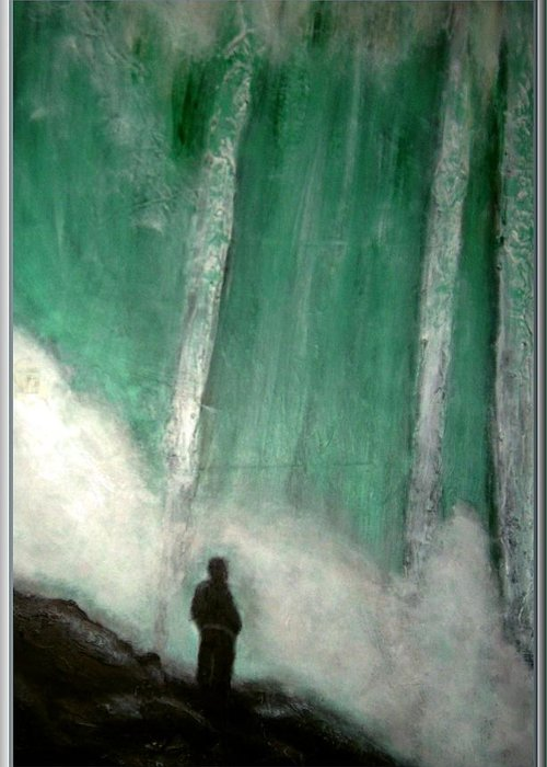Landscape Greeting Card featuring the painting Standing in awe by Joseph Ferguson