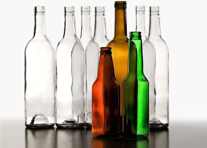 Bottles Greeting Card featuring the photograph Standing In Front by Joe Bonita