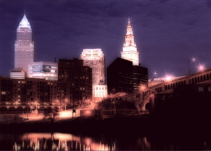 Cleveland Greeting Card featuring the photograph Standing Tall by Kenneth Krolikowski