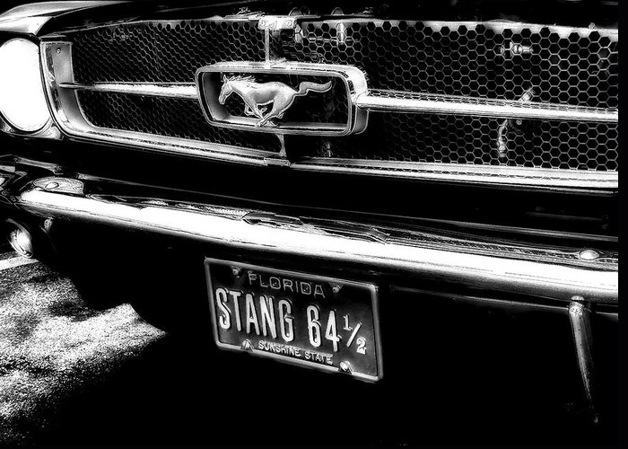 Mustang Greeting Card featuring the photograph Stang by Kenneth Krolikowski