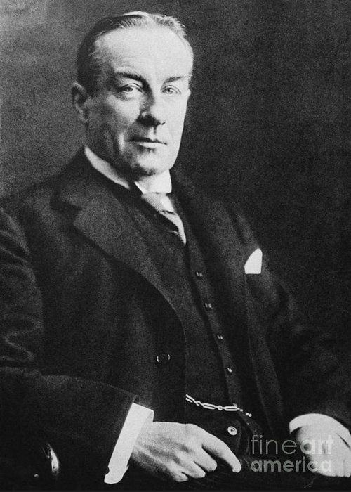 History Greeting Card featuring the photograph Stanley Baldwin, English Politician by Photo Researchers