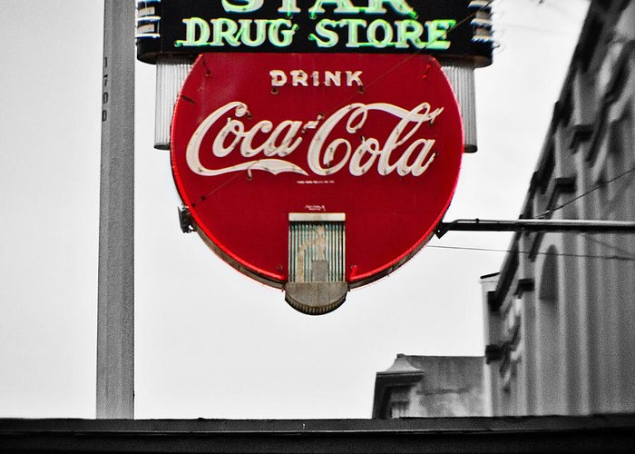 Star Drug Store Greeting Card featuring the photograph Star Drug Store by Scott Pellegrin