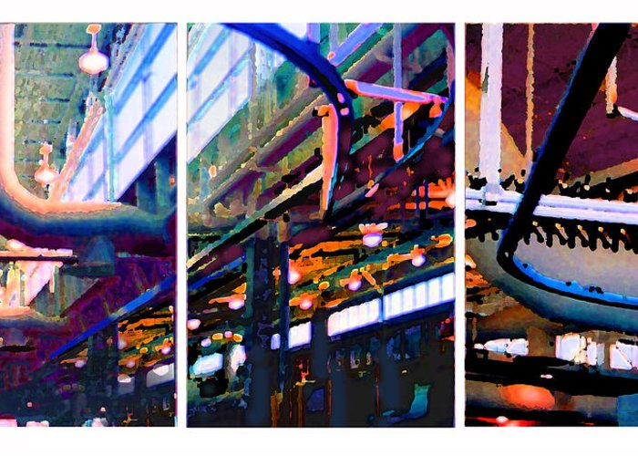 Abstract Greeting Card featuring the photograph Star Factory by Steve Karol