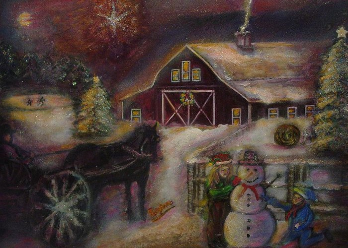 Christmas Greeting Cards Greeting Card featuring the painting Star Of Bethlehem by Regina Brandt