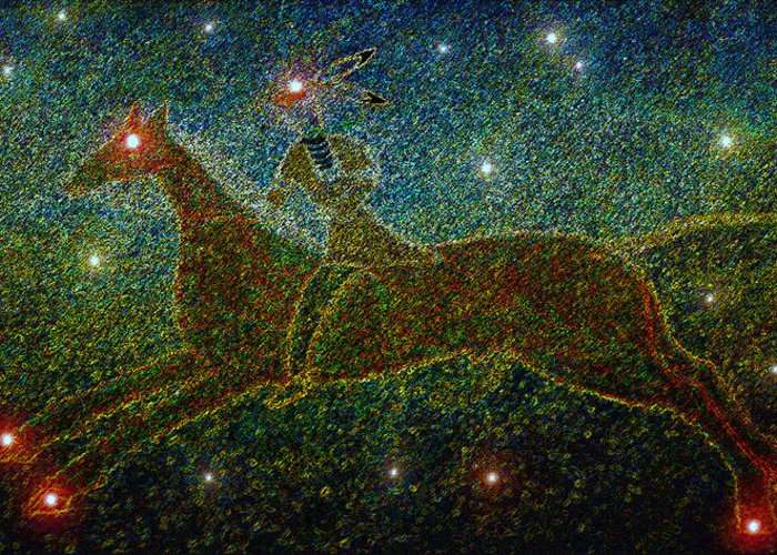 Art Greeting Card featuring the painting Star Rider by David Lee Thompson