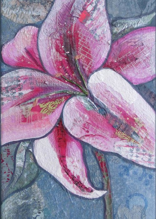 Stargazer Lilies Greeting Cards
