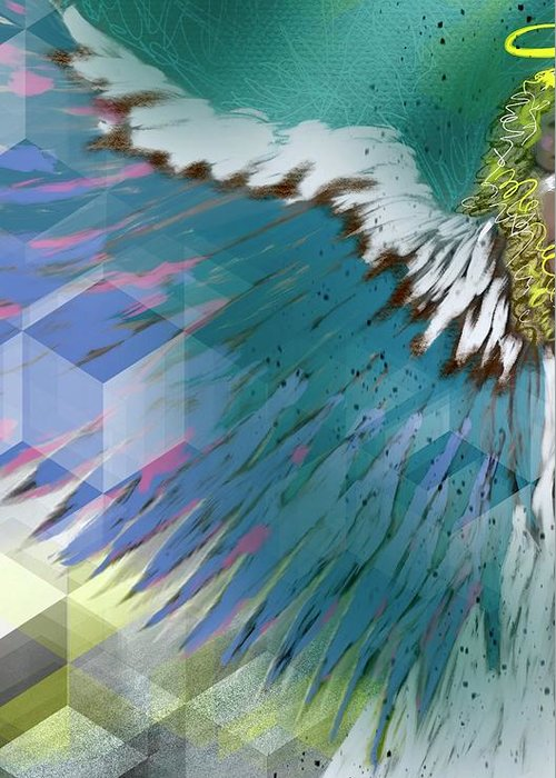 Angel Greeting Card featuring the digital art Stargroove 1 by Suzaine Smith