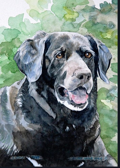 Portrait Greeting Card featuring the painting Starr by Eileen Hale