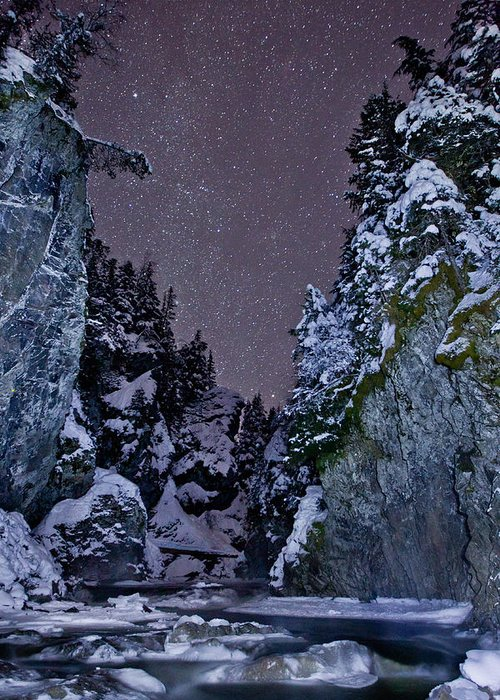 Stars Greeting Card featuring the photograph Starry Creek by Brandon Broderick