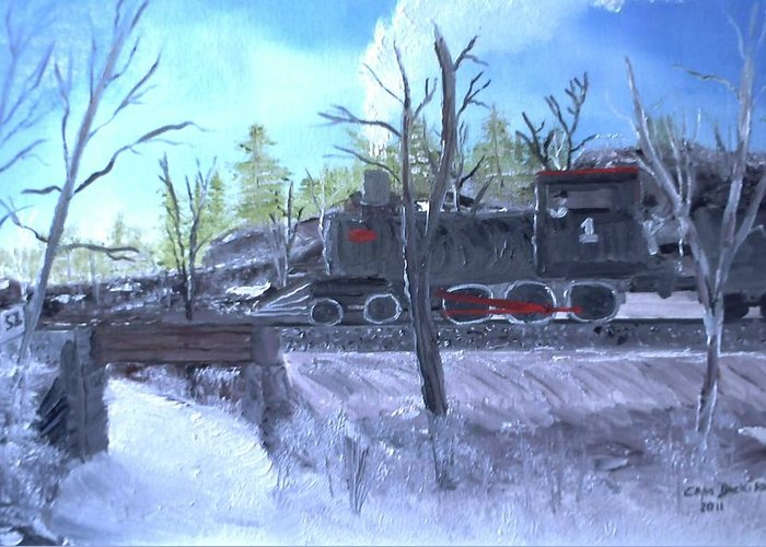 Landscapes Greeting Card featuring the painting Station 51 by Campbell Dickison