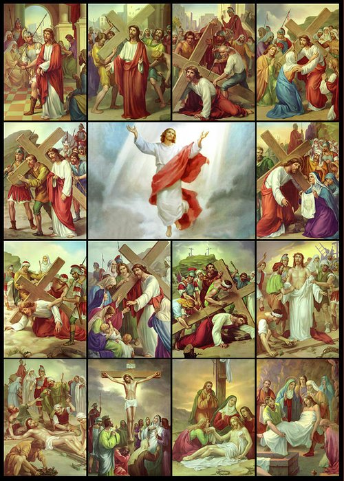 Stations Of The Cross Greeting Card featuring the photograph Stations Of The Cross by Munir Alawi