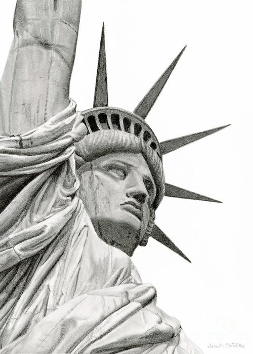Statue Of Liberty National Monument Greeting Cards