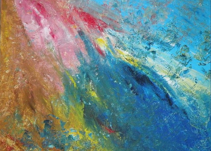 Inner World Greeting Card featuring the painting Steadfast by Christine Martin