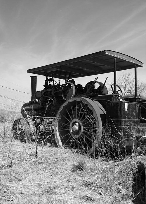 Landscape Greeting Card featuring the photograph Steam Tractor by Doug Mills