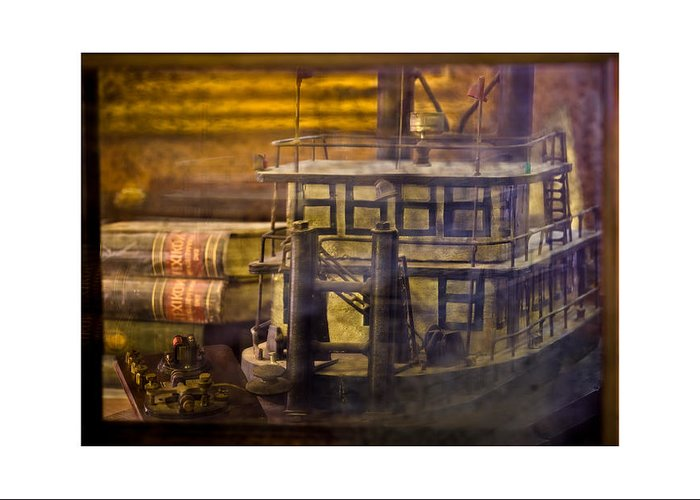 Bookman's Alley Bookstore Greeting Card featuring the photograph Steamboat by Marc Perlish