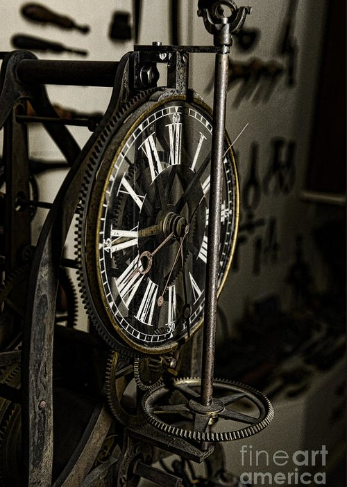 Paul Ward Greeting Card featuring the photograph Steampunk - Timekeeper by Paul Ward