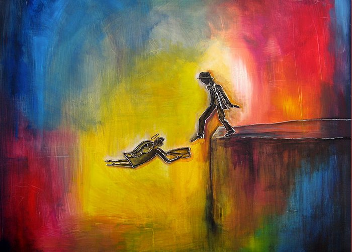 Art For Saleart Prints Greeting Card featuring the painting Step Of Faith by Jennifer Main
