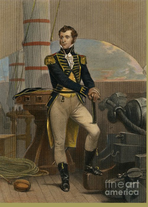 19th Century Greeting Card featuring the photograph Stephen Decatur by Granger