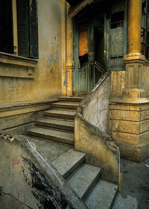 Architecture Greeting Card featuring the photograph Steps. by Tarek Charara
