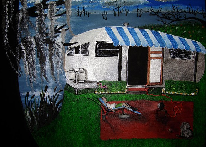 Trailer Greeting Card featuring the painting Stereotype by Sharon Supplee