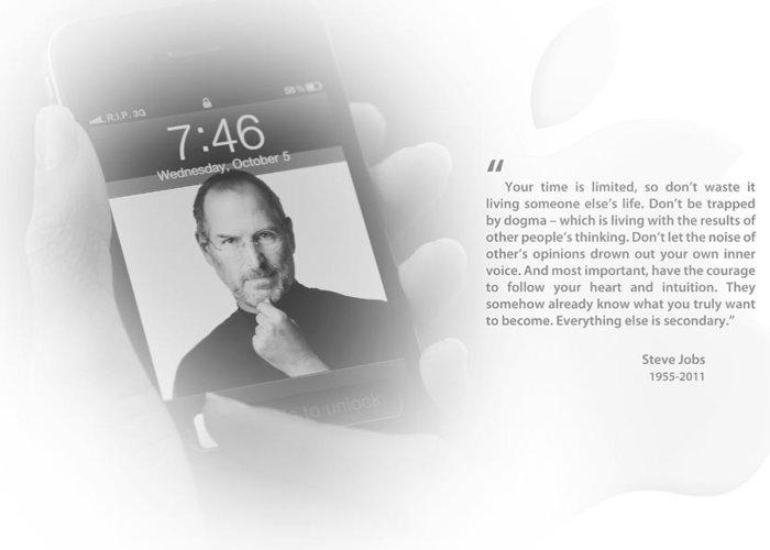 Steve Jobs Greeting Card featuring the photograph Steve Jobs 2 by Anthony Rego