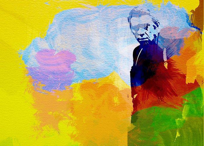 Steve Mcqueen Greeting Card featuring the painting Steve Mcqueen by Naxart Studio