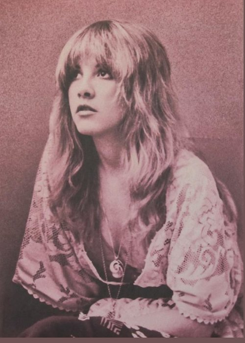 Stevie Nicks Greeting Card featuring the photograph Stevie Nicks by Donna Wilson