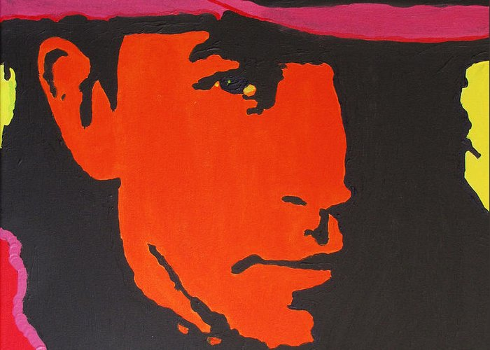 Stevie Ray Vaughan Greeting Card featuring the painting Stevie Ray Vaughan by Eric Dee
