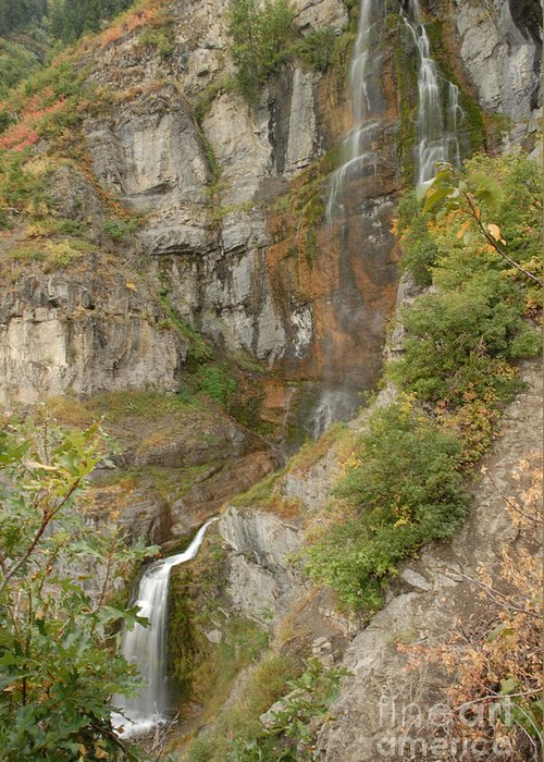 Waterfall Greeting Card featuring the photograph Stewart Falls in Autumn by Dennis Hammer