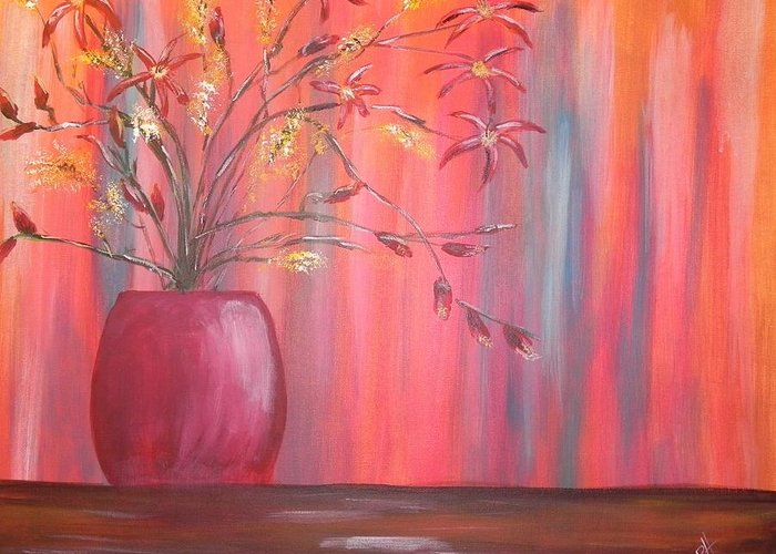 Still Life Greeting Card featuring the painting Still Colors by Patti Spires Hamilton