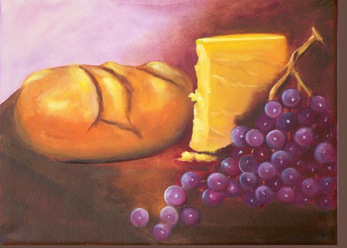 Still Lifen Food Greeting Card featuring the painting Still Life 1 by Joni McPherson