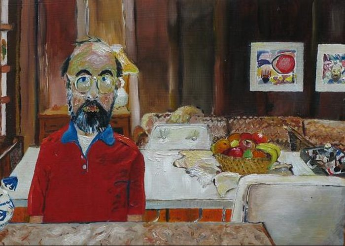 Self Portrait Greeting Card featuring the painting Still Life by Gary Coleman