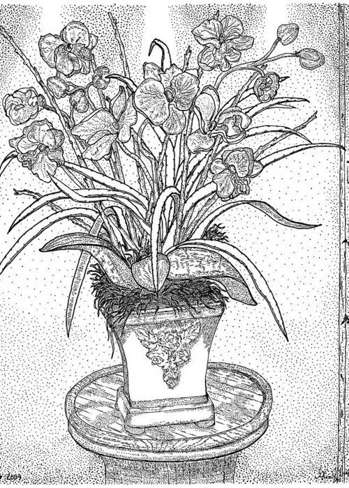 Still Life Greeting Card featuring the drawing Still Life by Glenn McCarthy Art and Photography