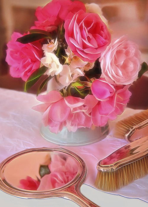 Floral Art Greeting Card featuring the digital art Still Life by Martin Fry