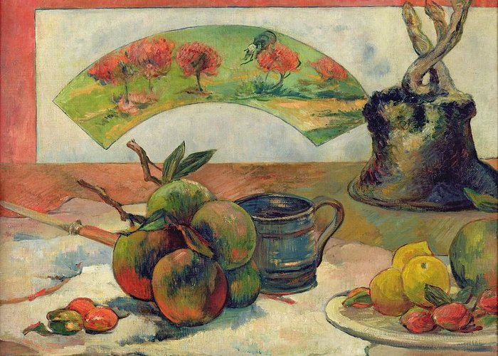 Still Life With A Fan Greeting Cards