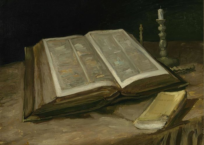 Art Greeting Card featuring the painting Still Life With Bible Nuenen, October 1885 Vincent Van Gogh 1853 1890 by Artistic Panda