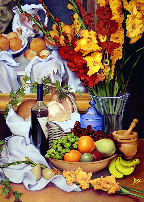 Wooden Bowls Paintings Greeting Cards