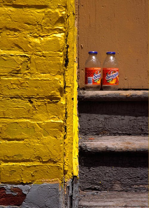 Montreal Greeting Card featuring the photograph Still Life With Snapple by Art Ferrier